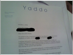 Yaddo acceptance letter sent via cell phone because I refused to believe it had actually happened