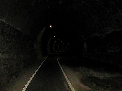 A long dark tunnel