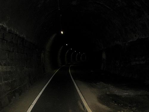 A long dark tunnel