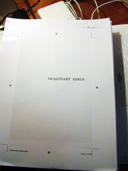 Imaginary Girls pages