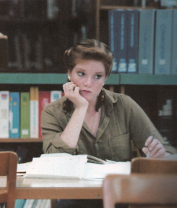 (Libba Bray at 17. Photo taken in the library.)