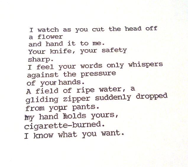 (An untitled poem I wrote when I was 17 about a boy who didn't deserve a poem.)