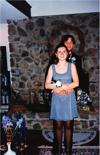 (Melissa Walker at 17, dressed for the senior prom.)