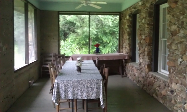 (Here is where the artists gathered for dinner on the nights the chef cooked for us.)