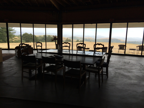 Inside the barn, before the writers arrive.