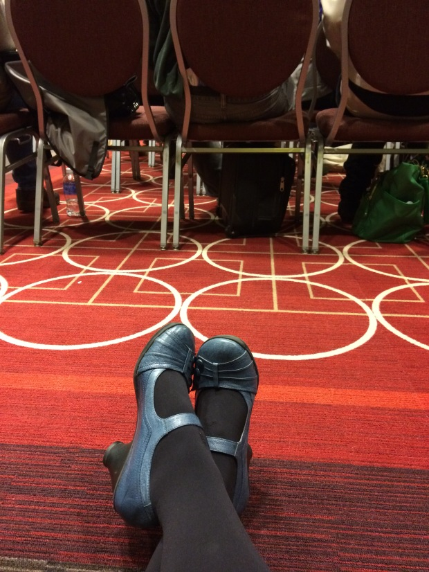 What happens when you get to an AWP panel late... You sit on the floor and listen. Here's my view of the Young Adult Literature and the Female Body panel.