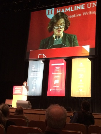 The mayor (!) of Minneapolis introduced the keynote speaker, Karen Russell. p.s. The mayor of Minneapolis has an unpublished YA novel in her drawer... YA editors, get on that?
