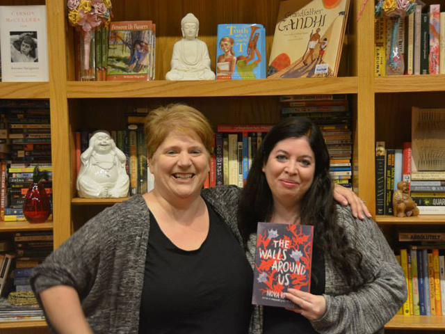 Bethany Hegedus and me at the Writing Barn...
