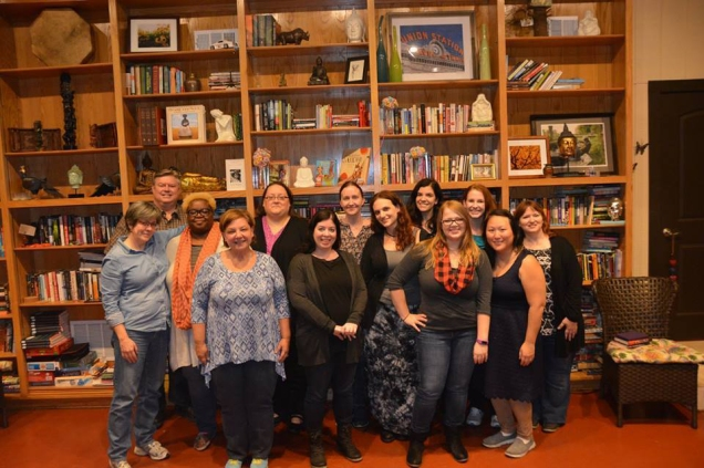 The workshop group! Such a fantastic group of writers! Here we are all with my TA Jess Capelle and guest author Lynne Kelly