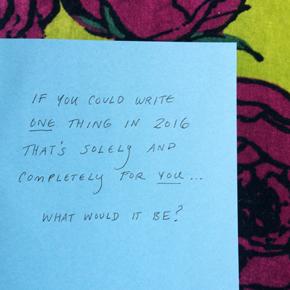 To Write, to Do, toBe