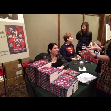 My first-ever publisher-sponsored conference: Winter Institute in Asheville. I'm sharing a signing table with Gwenda Bond!