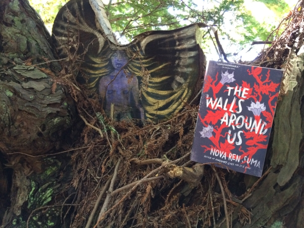 THE WALLS AROUND US is now available in paperback! Here we are in the woods of the Djerassi Resident Artists Program in California.